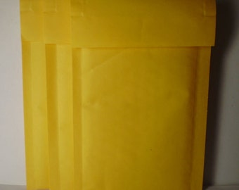 10 Assorted Kraft Self Sealing Bubble Lined Mailers - Envelopes - 2 sizes