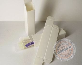 10 White Lip Balm Boxes for Standard Tubes