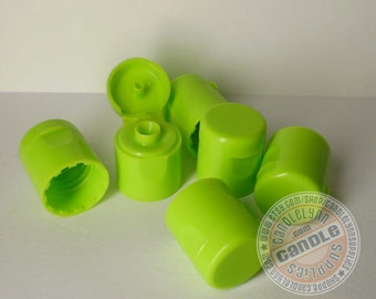 12 - 15/415 Sour Apple Green (or Lime) Smooth Flip Top Cap