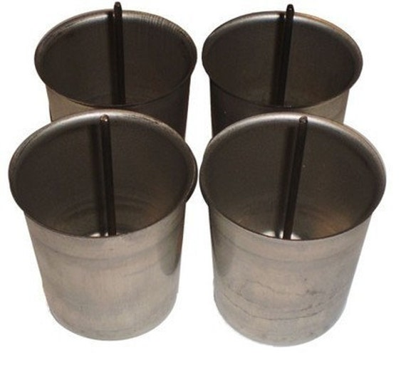 4 NEW Votive Molds and Wick Pins- Candles- Supplies