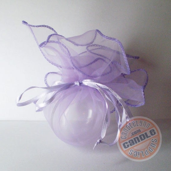5 LAVENDER Organza Wraps - Party favors, jewelry, gifts and much, much more