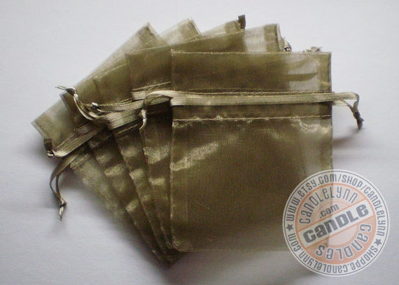 120 OLD WILLOW 3x4 Sheer Organza Bags - Party favors, jewelry, gifts, sachets and much, much more