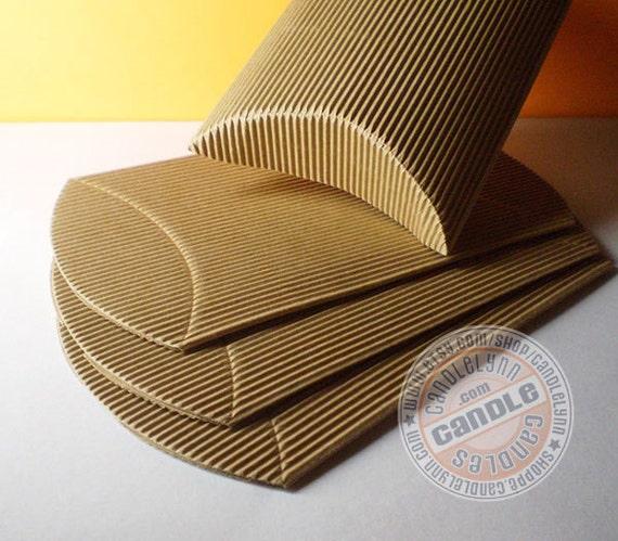 10 X-Large Corrugated Kraft Pillow Boxes - 6 3/4 x 5 1/8 x 1 1/2
