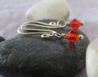 Swarovski Hyacinth Tangerine Orange Sweet 16 Earrings : Color of the Year