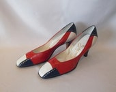 Fabulous 1950s  Leather Pumps size 6.5 by Johansen