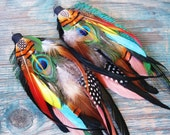 Aztec Warrior Princess Feather Earrings No. 3