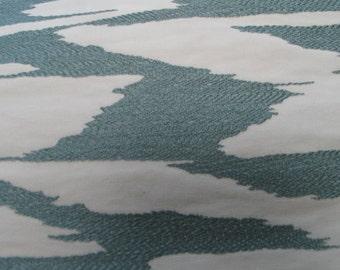 NEW Fabric sold by the Yard from our Reflection Collection-Teal Blue and White