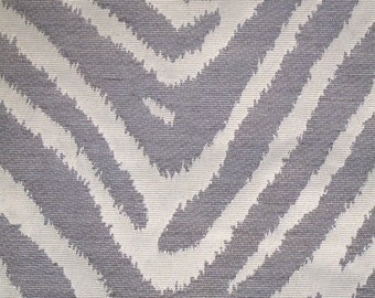 New Fabric Sold By the Yard--Classy Zebra Stripe Fabric--Gray and Off White