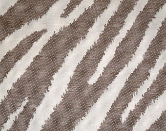 New Fabric Sold By the Yard--Classy Zebra Stripe Fabric--Bark and Off White