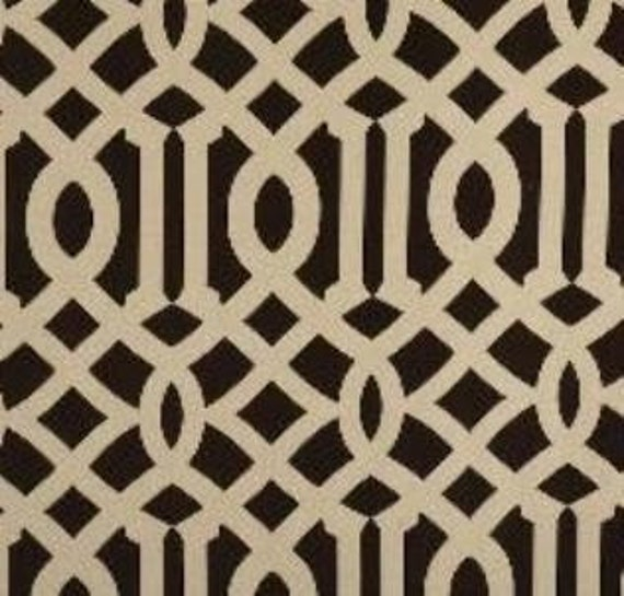 SALE SALE SALE! Imperial Trellis Inspired Fabric By the Yard-Coffee/Ivory