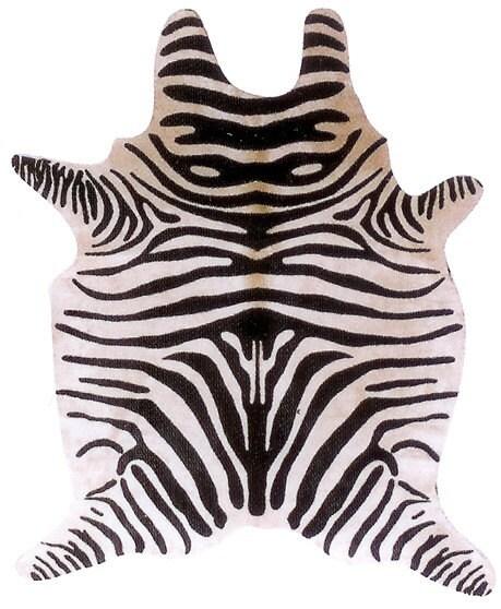 Zebra Cowhide Rug Or Upholstery