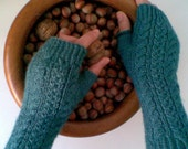 Oil Green  Fingerless Gloves-READY TO SHIP