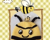 Knitting   honey Bee Hat-for photographers, photo prop for newborns -Newborn BaBy BumBle Bee Spring Hat Infant Size Boutique Style