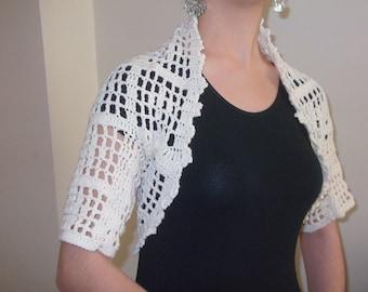 Cream Shrug - Any Season-Bolero-crochet apparel