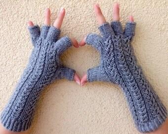 Dark Gray  Half Finger Gloves