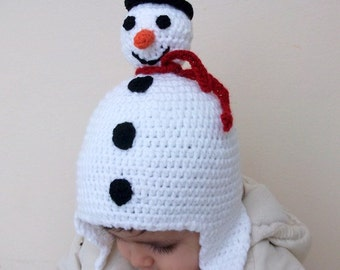 Snowman Hat,Photo Prop,  for Baby or Toddler