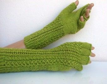 Pistachio green Half Finger Gloves-READY TO SHIP