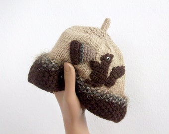 Acorn Hat -Knitting Baby  Hat  - for Baby or Toddler-baby boy costume