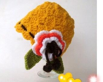 Mustard Yellow Fun Hat - Baby/Toddler/Children-Crocheted Baby  Hat  - for newborn