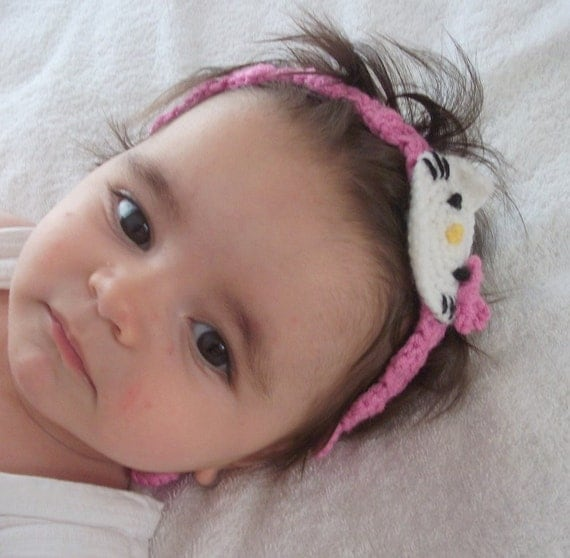 Kitty headband from newborn to adult sizes
