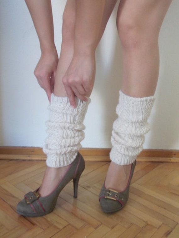 Cream Leg Warmers