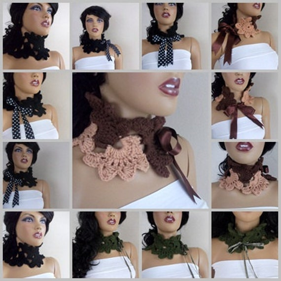 Crocheted Lace Scarf-Choose your color