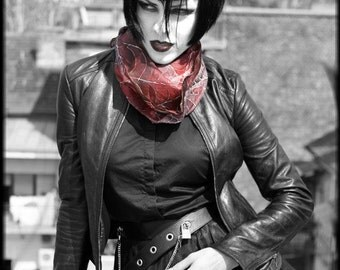 Vampire silk scarf - victorian fashion