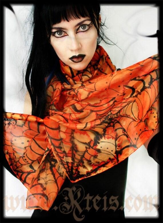 Halloween silk scarf shawl