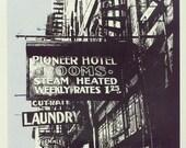 Pioneer Hotel art print