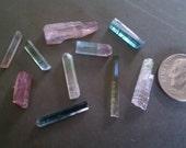 Tourmaline Crystals Lot of 10 Natural Specimen Blue Pink Green Watermelon Rubellite Gemstones