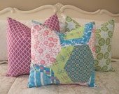 SALE...Pillow, Decorative Throw Pillow Cover, Designer Dance With Me Pillow Cover 15 x 15 in stock and ready to ship