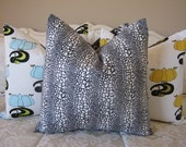 Pillow, Decorative Throw Pillow Cover, Designer Black Spots Pillow Cover 22 x 22