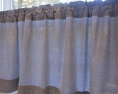 Curtain, Valance, Cafe, Window Curtain, Black and White Gingham Cafe Curtain or Valance