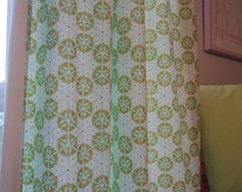 Curtain, Valance, Window Curtain, Designer Olive Mosaic Curtain Valance 40 x 16