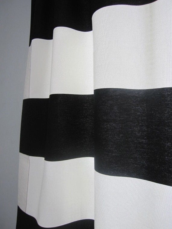 curtains drapes window curtains set of 2 black and off white