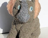 Elephant, a Beaded Plaster Elephant  Figurine