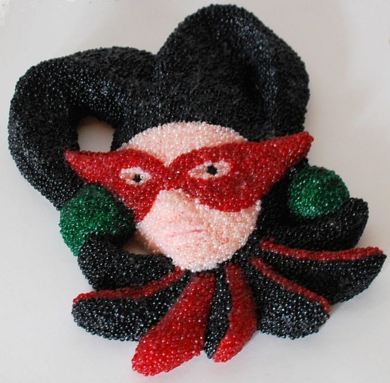 Dark Jester, a Beadwork Plaque