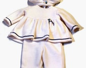 Cute Baby Girl's Fleece Outfit (3-6 months)