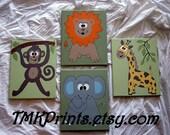 custom order jennibettebaker -  (4) 11x14 custom canvases