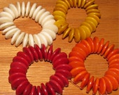 25 Amber Tagua Nut Beads, 13mm Rondell Saucer Beads, EcoBeads, Natural Beads, Organic Beads, Vegetable Ivory Beads