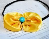 Sassy Yellow Bow Headband