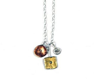 Tri-Color Three Drop Necklace