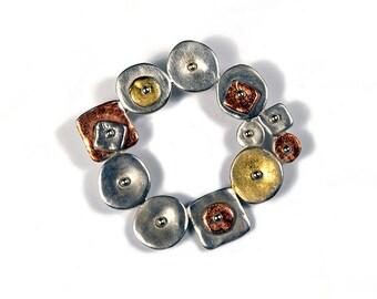 Tri-Color Circular Geometric Pin