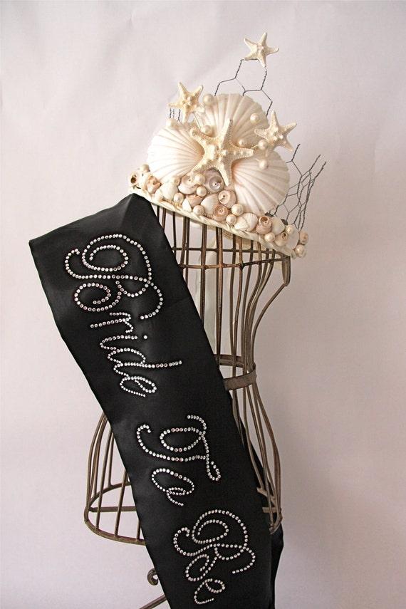 Bride To Be- Bachelorette Sash - Black, White, Pink,  Blue & Purple