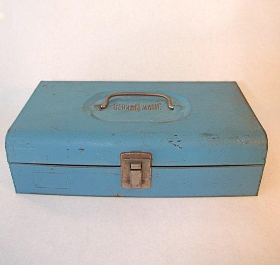 Industrial Blue Vintage Bernzo Matic Toolbox