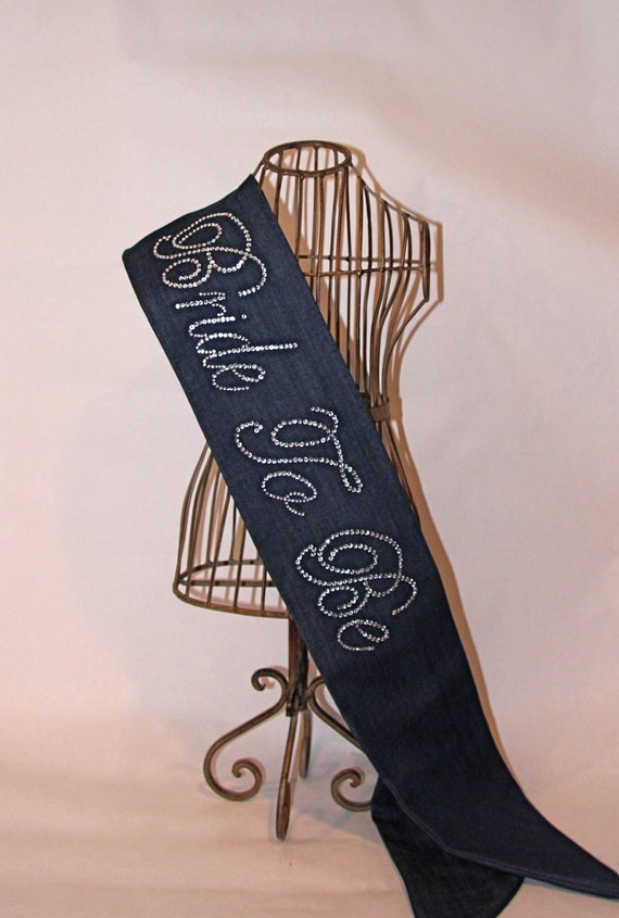 READY TO SHIP - Western Denim Bride To Be- Bachelorette Sash
