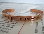 Copper bracelet with sayings--slim