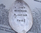 I don't remember planting this vintage spoon garden stake billetsdoux original