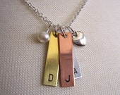 Mixed Metal Custom Mommy Family Initial Necklace