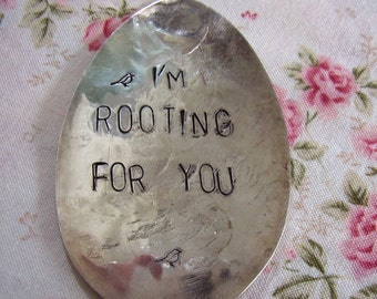 I'm Rooting vintage spoon garden marker